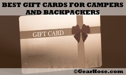 best gift cards for campers and backpackers
