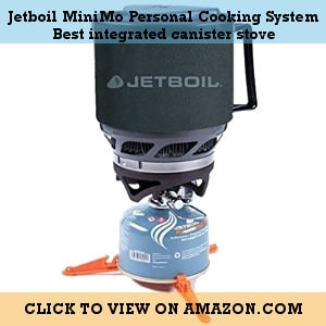 Jetboil MiniMo Personal Cooking System - the best Integrated canister stove