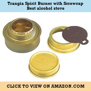 Trangia Spirit Burner with Screwcap - the best alcohol stove