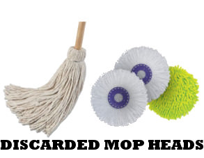 discarded mop heads