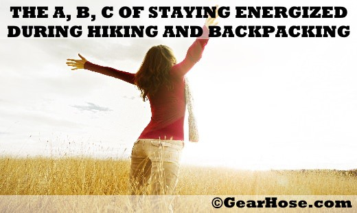 The ABC of staying energized during camping and hiking