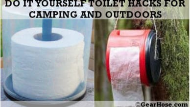 Do it yourself toilet hacks for camping