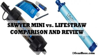 Sawyer mini vs. Lifestraw portable water filter review